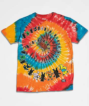 Grizzly x Grateful Dead Have A Nice Trip Tie Dye T-Shirt
