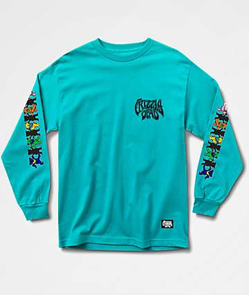 Grizzly x Grateful Dead Paradigm Aqua Long Sleeve T-Shirt