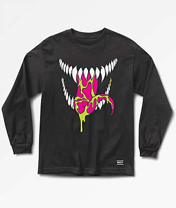 Grizzly x Marvel Grin Venom Black Long Sleeve T-Shirt