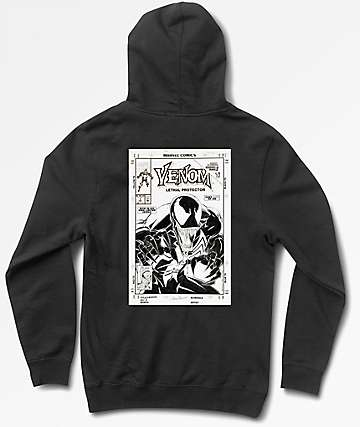 Grizzly x Marvel Pen & Ink Venom Black Hoodie