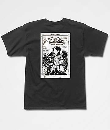 Grizzly x Marvel Pen & Ink Venom Black T-Shirt