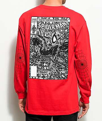 Grizzly x Marvel Spiderman Red Long Sleeve T-Shirt