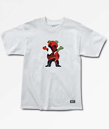 Grizzly x Marvel Spiderman White T-Shirt
