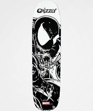 "Grizzly x Marvel Venom Pen & Ink 8.0"" Cruiser Skateboard Deck"