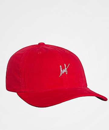 HUF Corduroy Script Strapback Hat