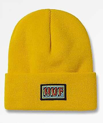 HUF Mar Vista Yellow Beanie