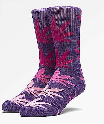 HUF Melange Plantlife Pink Crew Socks