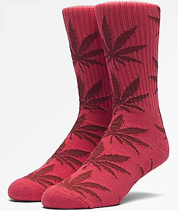HUF Plantlife Dark Red Crew Socks