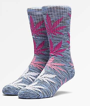 HUF Plantlife Melange Blue Crew Socks
