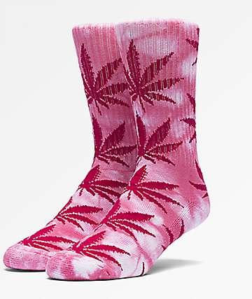 HUF Plantlife Tie Dye Pink Crew Socks