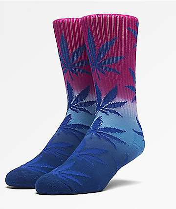 HUF Plantlife Trifade Magenta, Turquoise & Navy Crew Socks
