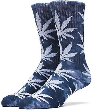 HUF Prism Wash Plantlife Teal Crew Socks