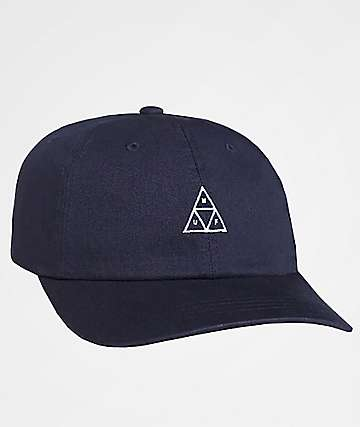 HUF Stone Wash Triple Triangle Obsidian Six Panel Hat