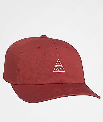 HUF Stone Wash Triple Triangle Rose Six Panel Hat