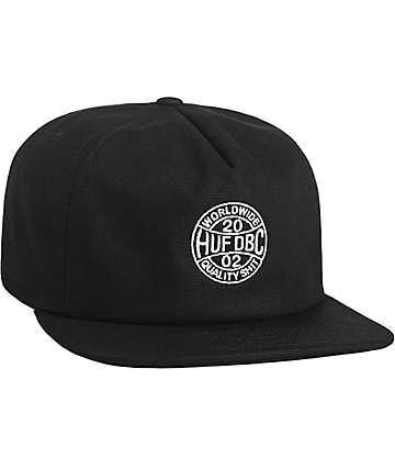 HUF Token Black Snapback Hat