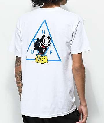 HUF X Felix the Cat Triple Triangle White T-Shirt
