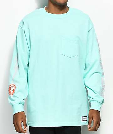 HUF x South Park Dead Kenny Mint Long Sleeve Pocket T-Shirt