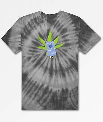 HUF x South Park Towelie Black Tie Dye T-Shirt