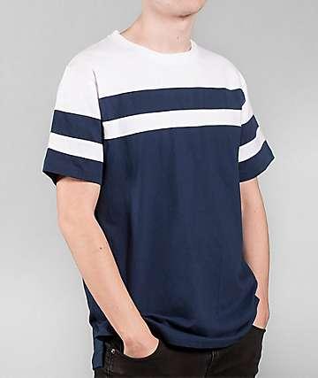 Halfwits Horizon Navy & White Knit T-Shirt