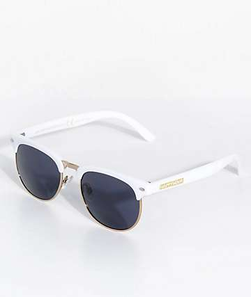 Happy Hour Tancowny G2 Glossy White & Gold Sunglasses