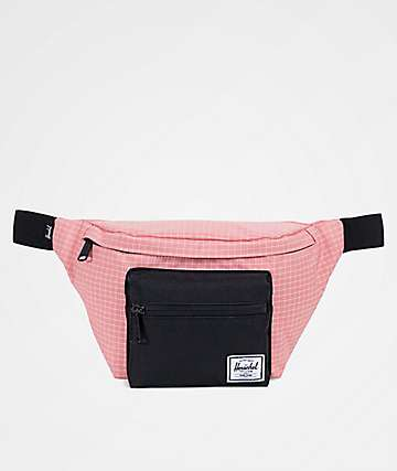 Herschel Supply Co Seventeen Strawberry Ice Grid & Black Fanny Pack