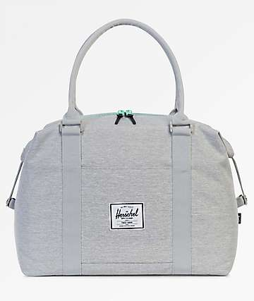 Herschel Supply Co Strand Light Grey Crosshatch & Lucite Green 28.5L Duffle Bag