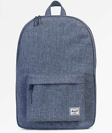 Herschel Supply Co. Classic Dark Chambray Crosshatch 18L Backpack