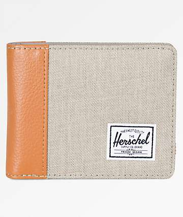 Herschel Supply Co. Edward Light Khaki Crosshatch Bifold Wallet