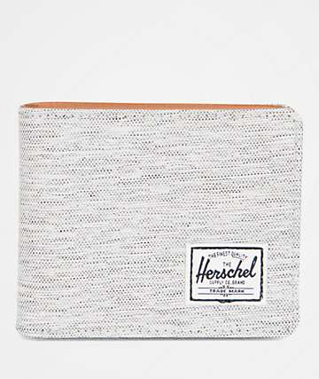 Herschel Supply Co. Hank Light Grey Crosshatch Bi-Fold Wallet