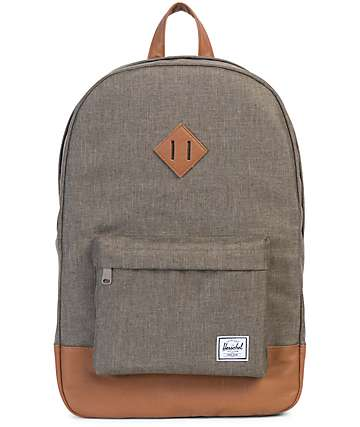 Herschel Supply Co. Heritage Canteen Crosshatch & Tan 21.5L Backpack