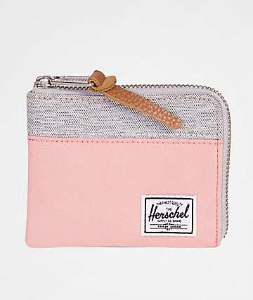 Herschel Supply Co. Johnny Peach & Light Grey Crosshatch Wallet