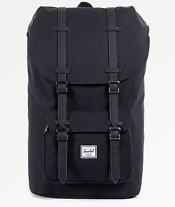 Herschel Supply Co. Little America Black & Black 25L Backpack