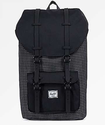 Herschel Supply Co. Little America Black Grid 25L Backpack