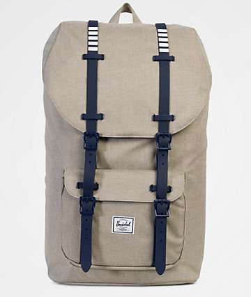 Herschel Supply Co. Little America Light Khaki Crosshatch 25L Backpack