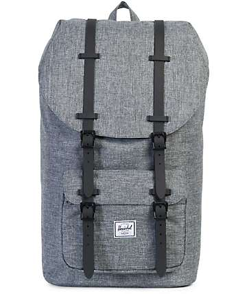 Herschel Supply Co. Little America Raven Crosshatch & Black Rubber 25L Backpack