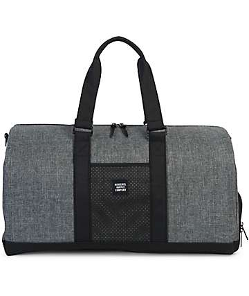 Herschel Supply Co. Novel Aspect Raven Crosshatch Duffle Bag