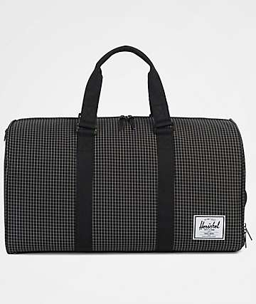 Herschel Supply Co. Novel Black Grid 42.5L Duffle Bag