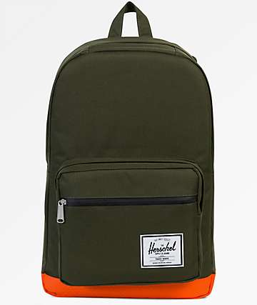 Herschel Supply Co. Pop Quiz Forest Night & Vermillion Orange 22L Backpack