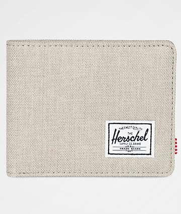 Herschel Supply Co. Roy Light Khaki Crosshatch Bifold Wallet