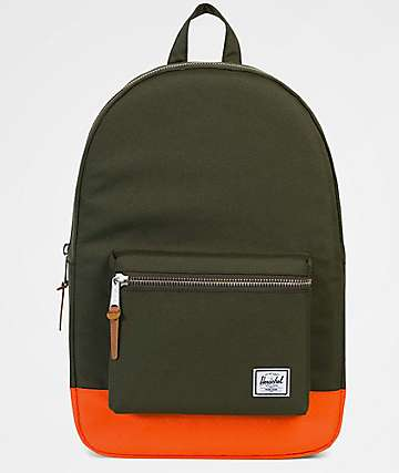 Herschel Supply Co. Settlement Forest Night & Vermillion Orange 23L Backpack