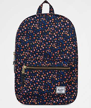 Herschel Supply Co. Settlement Mid Black Mini Floral 17L Backpack