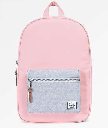 Herschel Supply Co. Settlement Mid Peach & Light Grey Crosshatch 17L Backpack