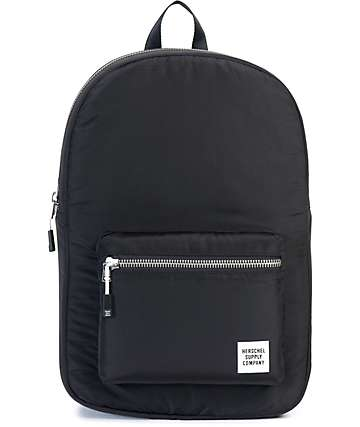 Herschel Supply Co. Settlement Womens Black Ripstop Mid-Volume 14L Backpack