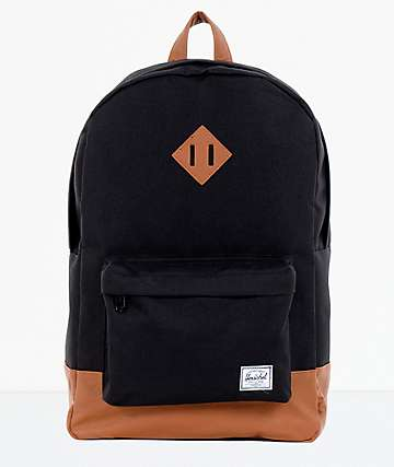Herschel Supply Heritage Black & Tan Backpack