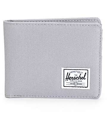 Herschel Supply Roy Grey Canvas Bifold Wallet