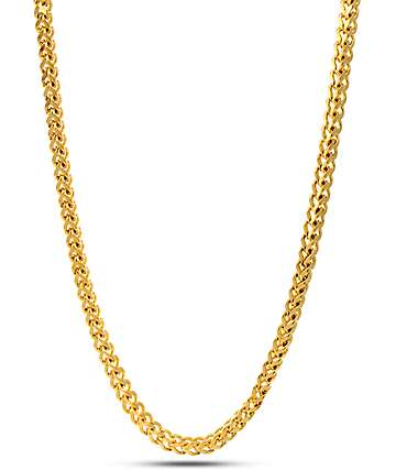 "King Ice 4mm 14K Gold 30"" Franco Chain"