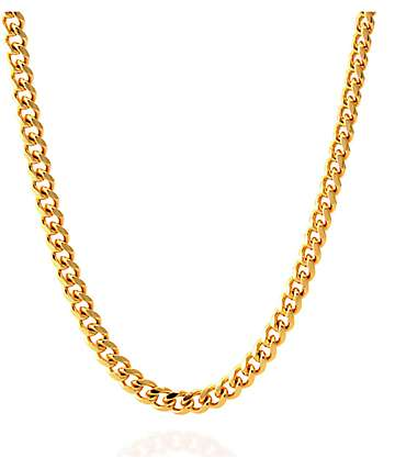"King Ice 5mm 14K Gold 26"" Cuban Chain"