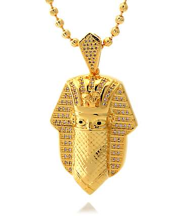 King Ice Masked King Tut Necklace