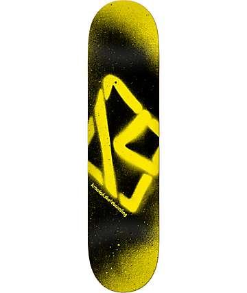 "Krooked Spray 8.06"" Yellow & Black Skateboard Deck"