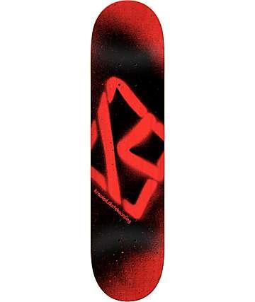 "Krooked Spray 8.25"" Red & Black Skateboard Deck"
